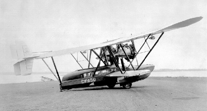 CF-ASO, the Sikorsky S-38 amphibian owned by Canadian Airways, parked on land, 1932. (BC Archives G-00308, detail.)