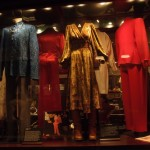 Display with clothes