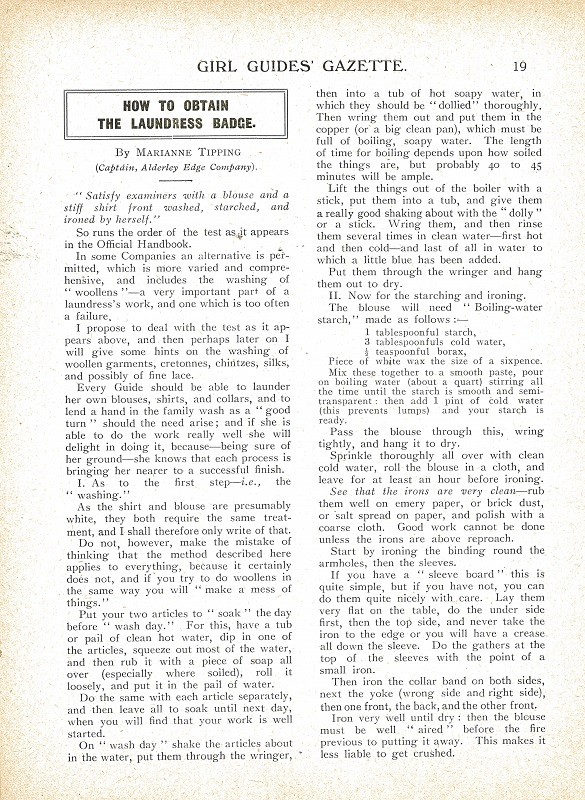 Papers relating to Girl Guides in British Columbia 1913 - 1988.