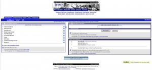 Old search engine homepage