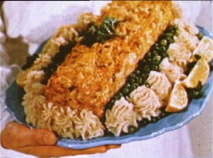 Salmon Loaf. (Video frame grab from V1988:10/011.03 item #1)