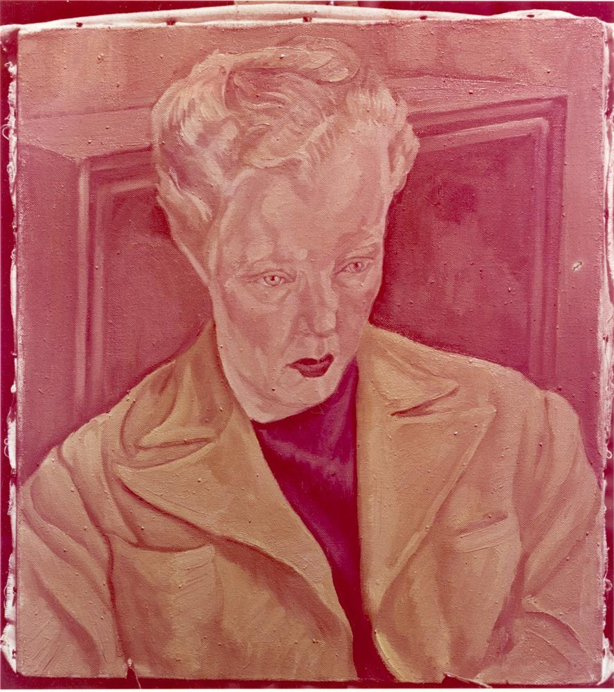 Anscocolor photograph of Peter Bortkus' 1947 portrait of Dorothy Burritt.